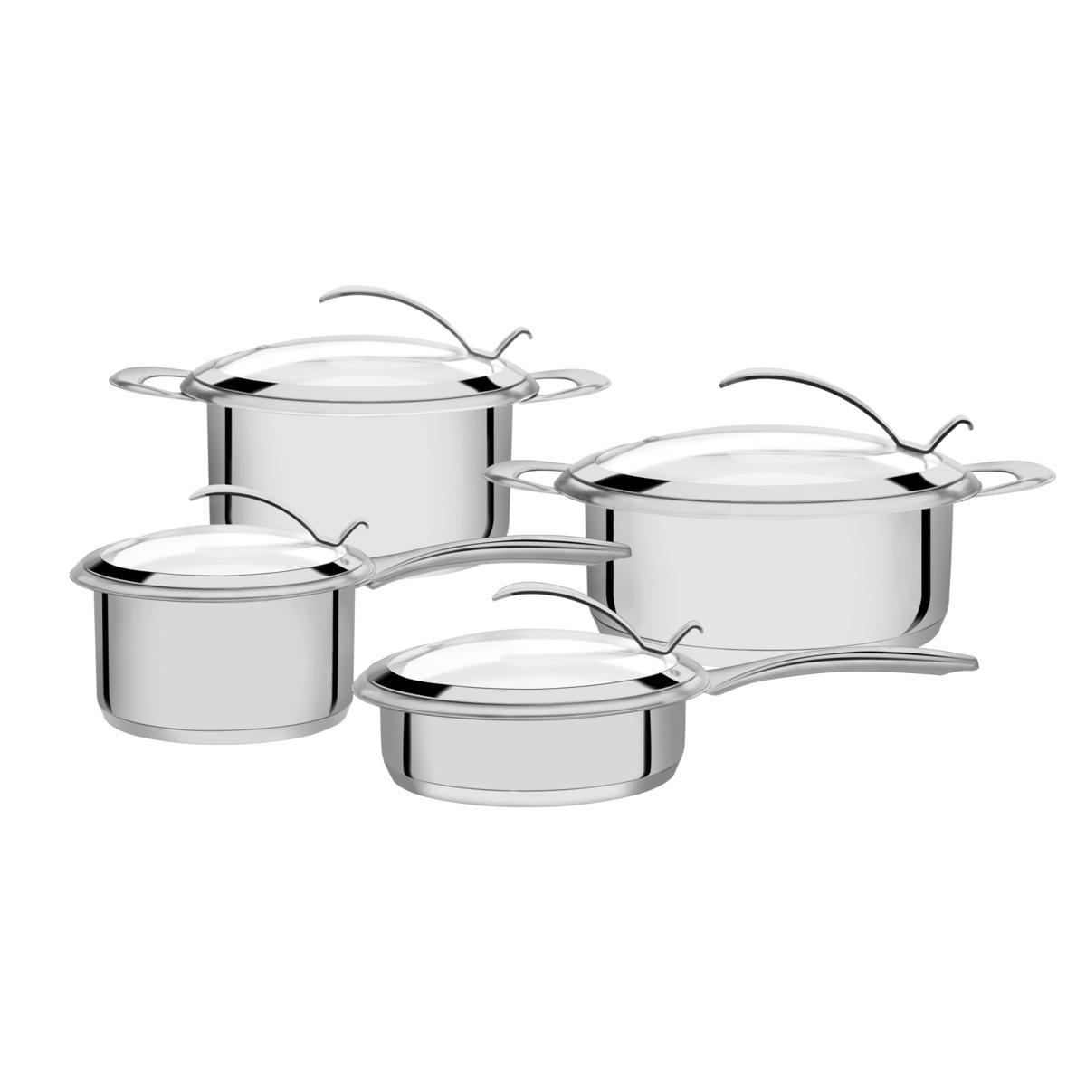 Tramontina - Batería de cocina acero inoxidable 4 pzas.