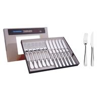 12 pc. stainless steel steak set