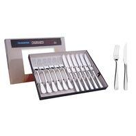 12 pc. stainless steel steak set