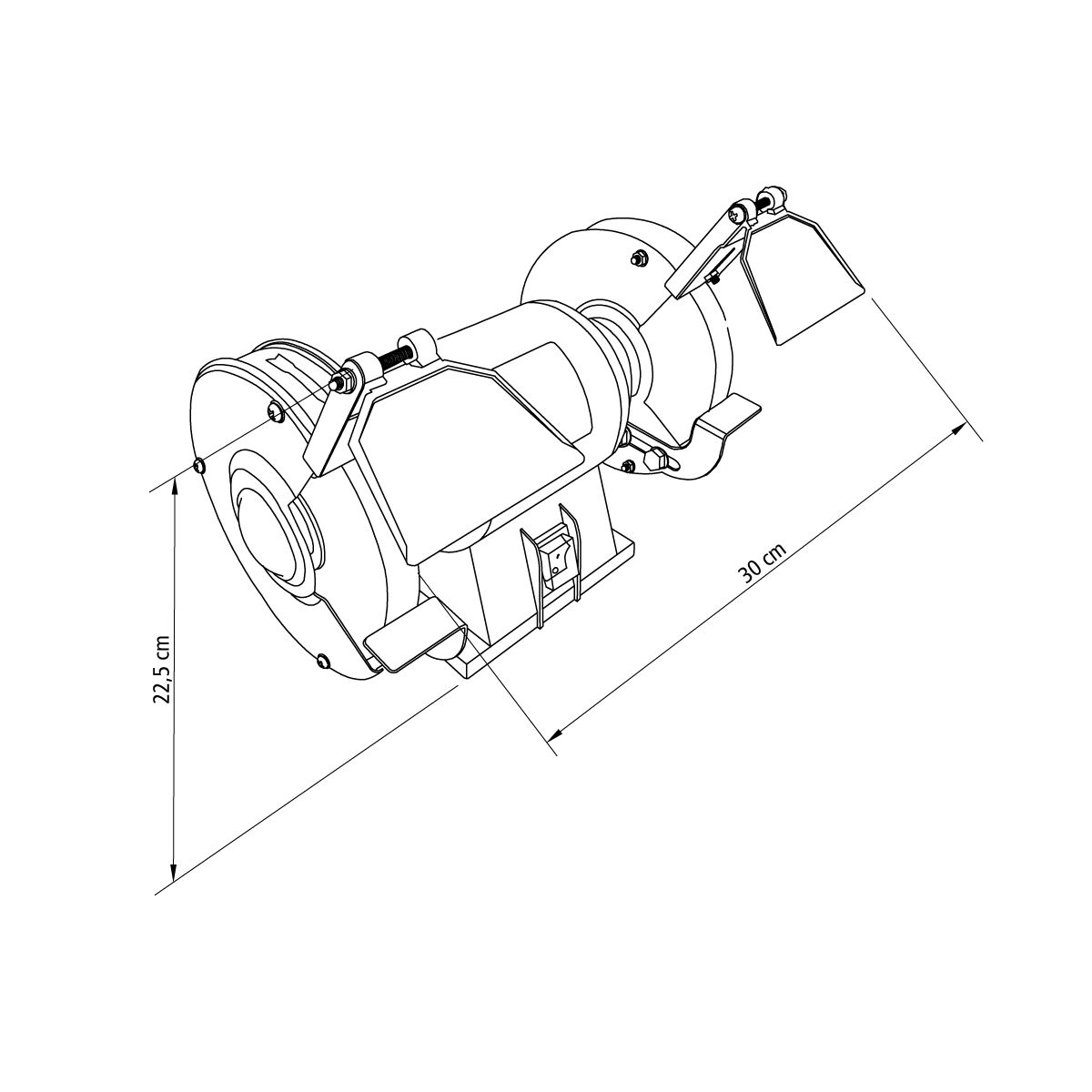 Tramontina 260 W Bivolt 5 Bench Grinder Professional Use. Dimens Es. Wiring. Br Tool Bench Grinder Wiring Diagram At Scoala.co