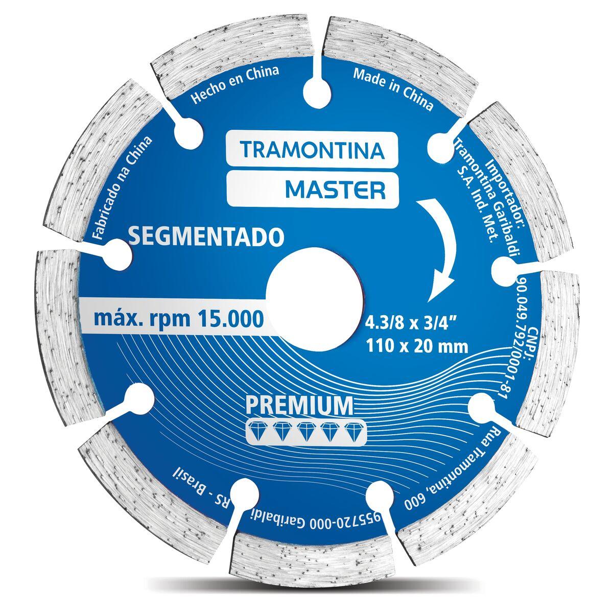 "Disco Diamantado Segmentado 4.3/8"" Modelo Premium"