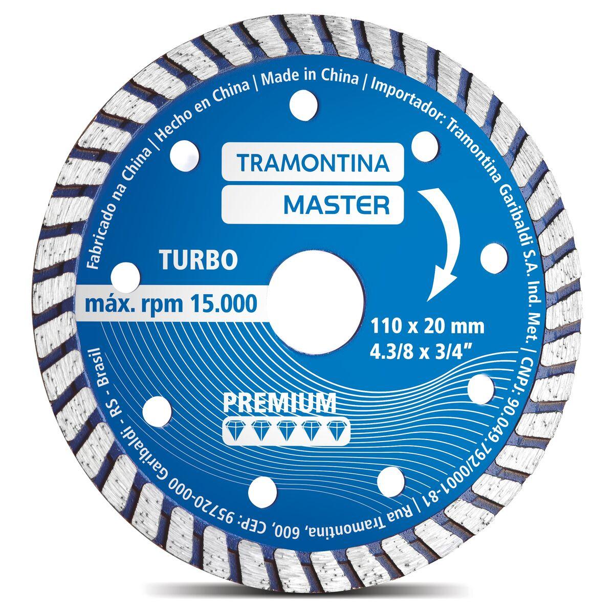 """Disco Diamantado Turbo 4.3/8"""" Modelo Premium"""