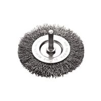 2x1/4'' crimped wire wheel brush with shank