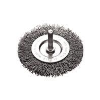 Cepillo circular alambre ondulado con vástago 2x1/4''