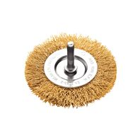 Tramontina PRO 3x1/4'' crimped wire wheel brush with shank