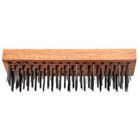 Escova de aço base em madeira 5 fileiras de arame