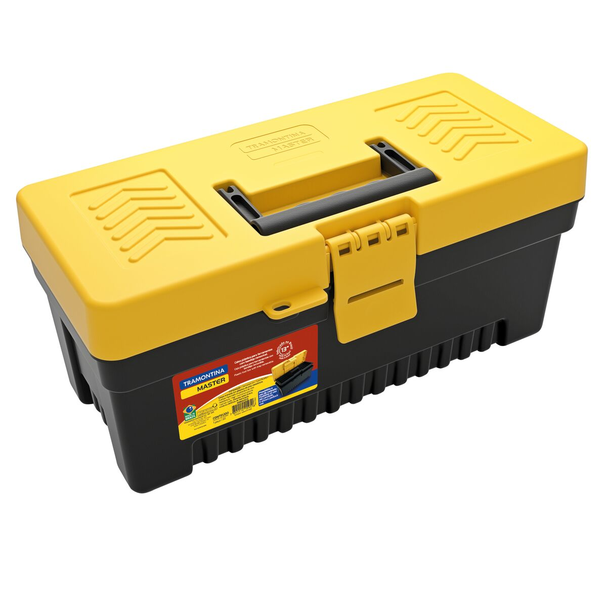 """13"""" Plastic Tool Box with plastic tray removable"""