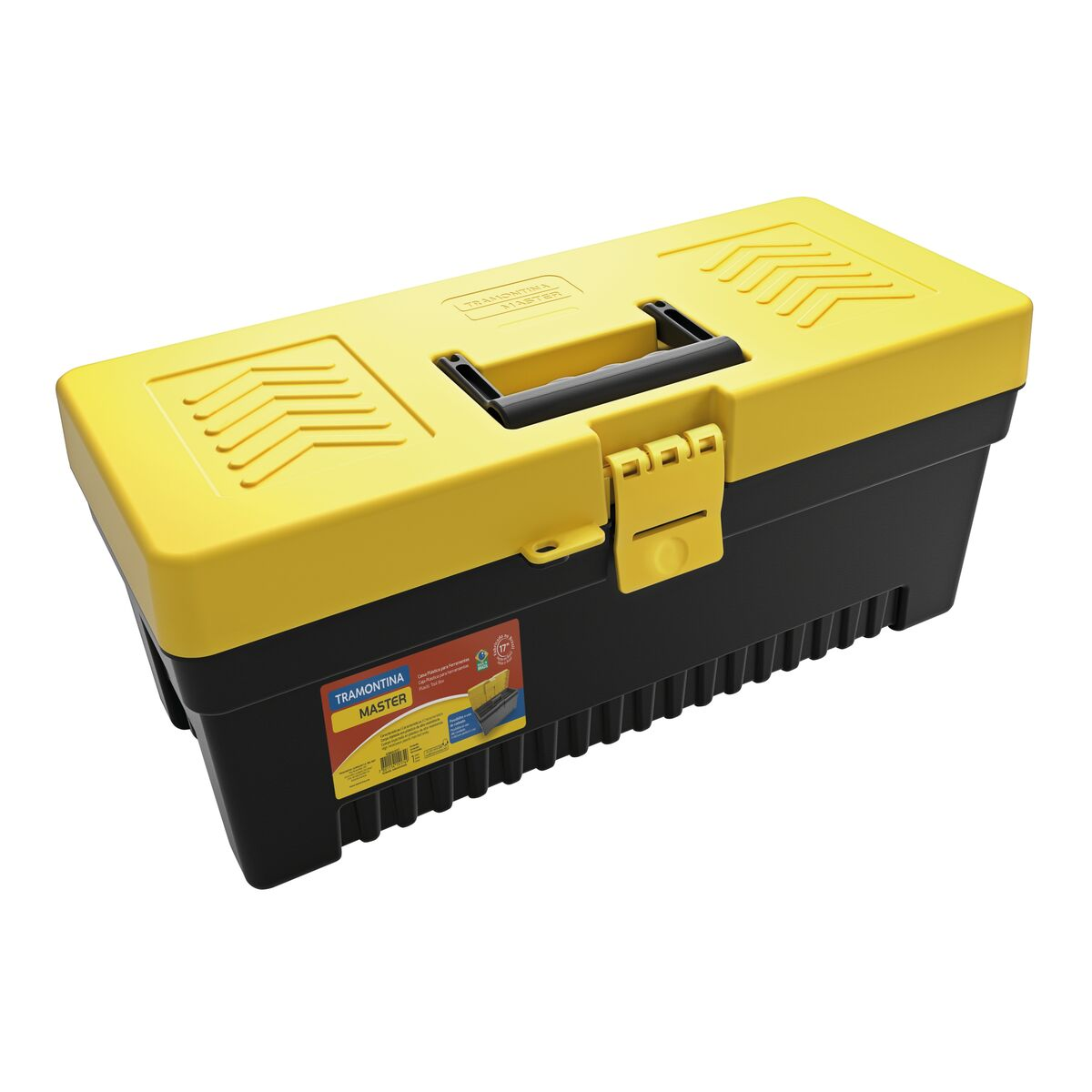 """17"""" Plastic Tool Box with plastic tray removable"""