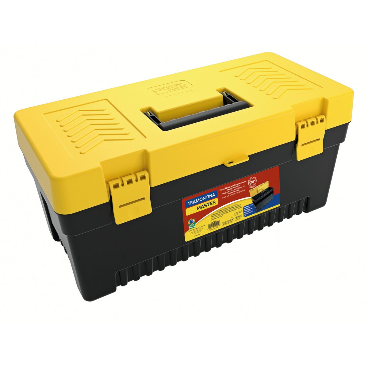 """20"""" Plastic Tool Box with plastic tray removable"""