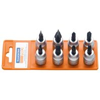 """3/8"""" Slotted and Cross Recessed Tip Socket Set - 8 pieces"""