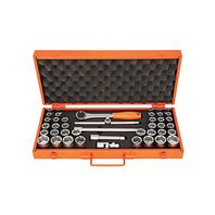 """1/2"""" Millimeters and Inches 6 Point Socket and Accessories Set - 43 pieces"""