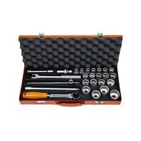"1/2"" Millimeters 12 Point Sockets and Accessories Set - 27 pieces"
