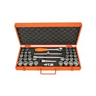 """1/2"""" Millimeters and Inches 12 Point Sockets and Accessories Set - 43 pieces"""