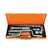 "1/2"" Inches 12 Point Sockets and Accessories Set - 23 pieces"