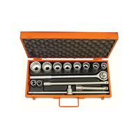 "14 pieces 3/4"" 12 Point Socket and Accessories Set - Millimeters"