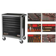 110 pieces 7 drawers tool cabinet
