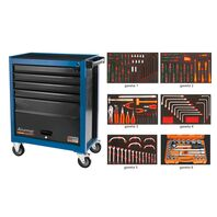 136 Pieces 5 Drawers and 1 Door Tool Cabinet