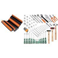 Caixa sanfonada com ferramentas 65 pçs