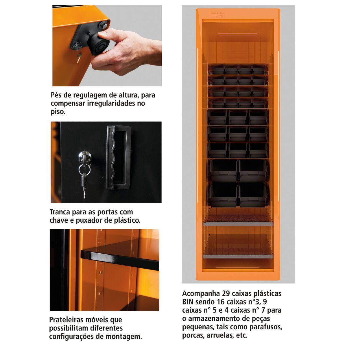 Armario Empotrado Leroy Merlin ~ Tramontina Armário para ferramentas com 1 porta e caixas BIN