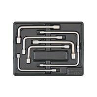 Módulo con llaves de pipa abierta 7 piezas - Pulgadas