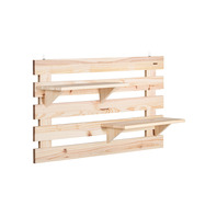 Tramontina solid wood 2-shelf wall planter
