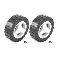Roda Menor e Calota Plástica Tramontina (2un) para Cortador de Grama CE35M2 e CE35P