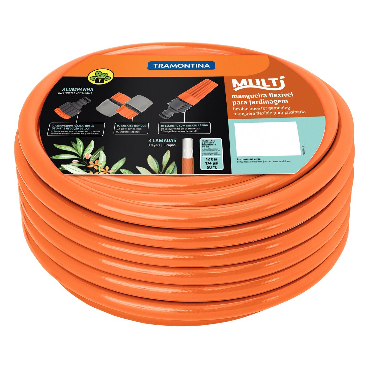 Tramontina 1 2 Super Flex Garden Hose 10 M Quick Connectors And Electrical Wire Flexible Pipe Sprayer
