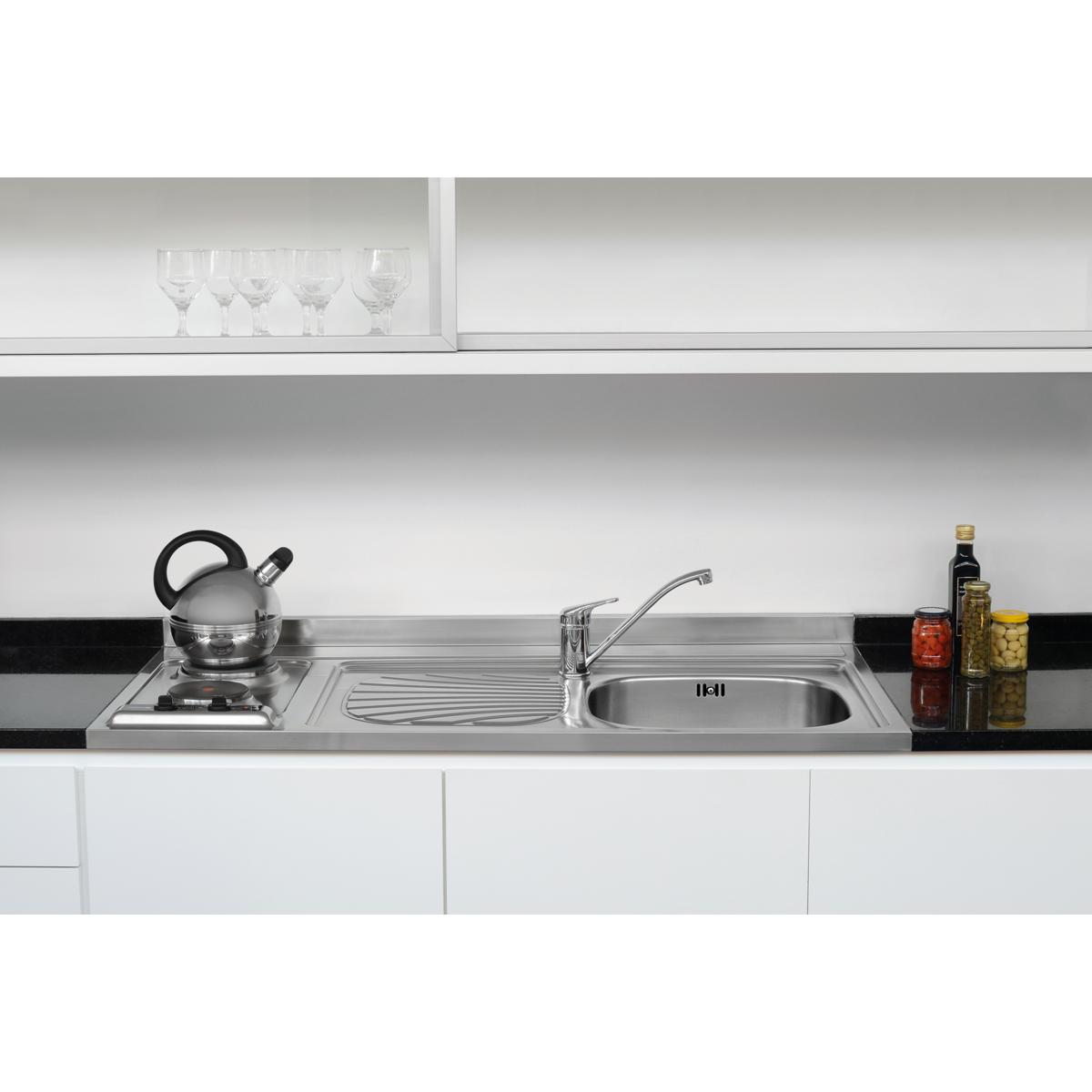 Tramontina - fregaderos + cocina en acero inoxidable 120 x 60 cm