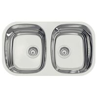 Tramontina Isis 2C 34 BL Stainless Steel Bowl with Mirror polishing Finish for Undermount 72x40 cm