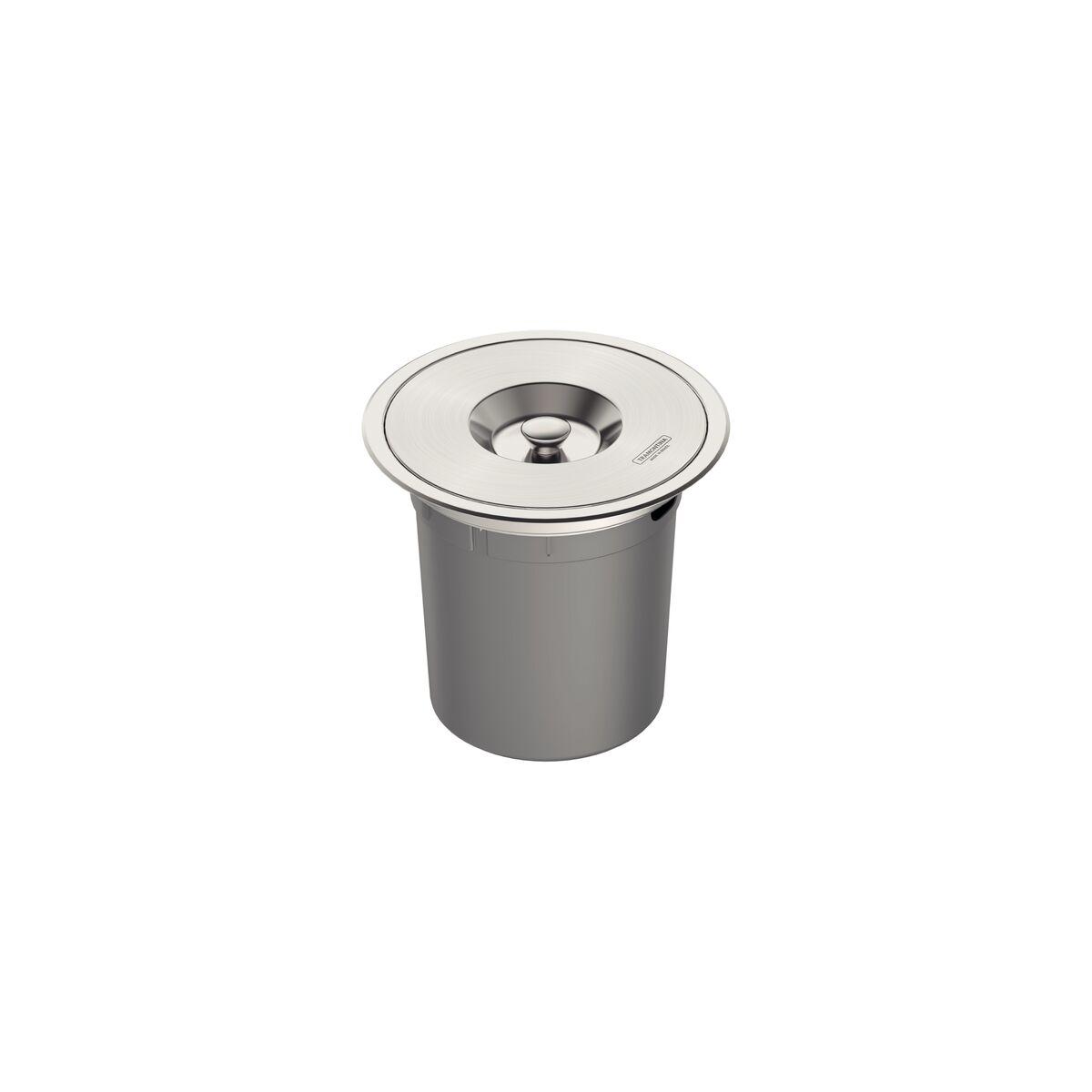 Basurero de empotrar Tramontina de acero inoxidable con balde plástico de 5 l