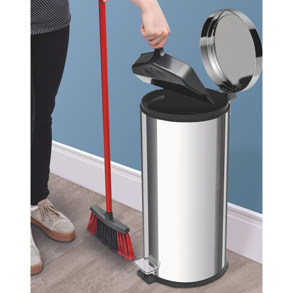 Tramontina - Pedal trash bin polished finishing 30 liters