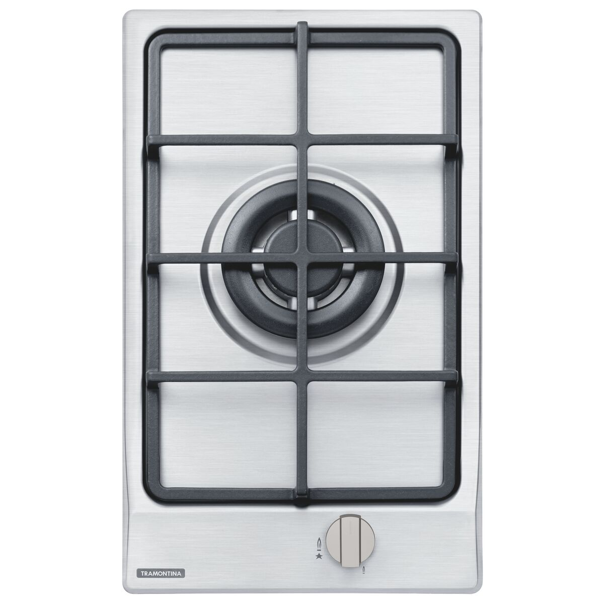 Tramontina Stainless Steel Gas Cooktop With Cast Iron Trivets Super Automatic Switch On And 1 Burner Tramontina