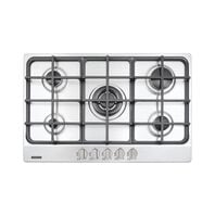 Tramontina stainless steel gas cooktop with cast iron trivets, Super Automatic switch-on and 5 burners