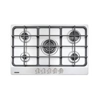 Tramontina stainless steel gas cooktop with cast iron trivets, auto ignition and 5 burners